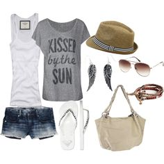 Def NOT with shorts that short, but otherwise, YES!!!!  Summer!, created by cotrone on Polyvore