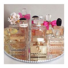 Per•fume||| a fragrant liquid typically made from essential oils extracted from flowers and spices, used to impart a pleasant smell to ones body or clothes.  What's your favorite perfume this season?  #hautearabia #hautecouture #fashionmag #dior #chanel #dolce&gabbana  #chloe #spring #fashion #fragrance #hudabeauty #giorgioarmani #versace