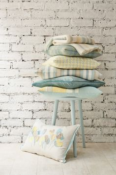 Find sophisticated detail in every Laura Ashley collection - home furnishings, children's room decor, and women, girls & men's fashion. Laura Ashley, Duck Egg Cushions, Duck Egg Blue Colour, Mustard Bedroom, Country Cottage Interiors, Cosy Room, Bedroom Color Schemes, Colour Schemes, Home Comforts