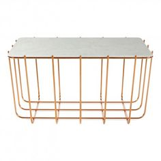 Scamp Small Table - Copper / Marble