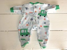 Light Blue Patterned Footed Sleeper - 14 - 15 inch boy doll clothes on Etsy, $11.51 AUD