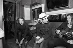 The South Carolina gentlemen in Needtobreathe were in good spirits before hitting a hot, muggy stage for their set early Sunday afternoon at the Austin City Limits Festival