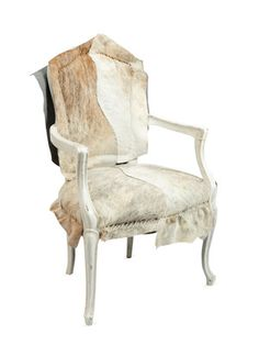 French Frame Cow Hide Chair by Tiger Lily on Gilt Home
