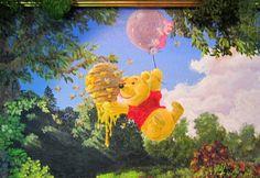 , closeup by wickedspaceant on DeviantArt Pooh Bear, Disney Art, Pixar, Art Boards, Close Up, Cartoons, Paintings, Deviantart, Canvas