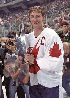 Wayne Gretzky Olympic Hockey, Ice Hockey, Hockey Baby, Hockey Memes, Sports Memes, Montreal Canadiens, Canada Cup, Canada Hockey, Wayne Gretzky