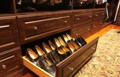 33 Popular Shoes Closet Design Ideas - If most individuals had only a few shoes then there will be no sense in composing an article on how to organize and design a shoe closet. Shoe Drawer, Shoe Storage Cabinet, Bench With Shoe Storage, Cabinet Space, Closet Storage, Storage Cabinets, Closet Organization, Walk In Closet, Shoe Closet