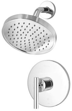 Pfister R89-7NCC  Polished Chrome Contempra Shower Trim Package with Single Function 2.5 GPM Rain Shower Head
