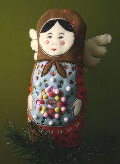 Matryoshka+Angel+Tree+Topper+by+marketstoreshoppe+on+Etsy