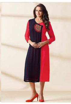33a7fe6ed6 35 best Red Color Kurti images in 2018 | Red color, Tunic, Designer ...