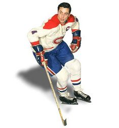 Jean Beliveau, captain of The Montreal Canadiens (1952-71)