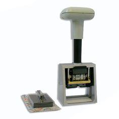 Timbro Protocollo per registrazione fatture o posta in arrivo. Struttura in acciao e piastra testo in metallo. Prodotto in offerta a € 138,00 + IVA