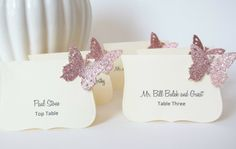 Butterfly Wedding Decorations  Event Place Cards by LillyThings, $0.99