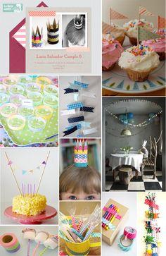 Botanitas para fiestas de niños | INVITACIONES INFANTILES E IDEAS PARA DECORAR UN CUMPLEAÑOS CON WASHI ...