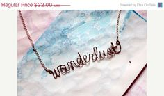 Wanderlust Necklace - Gift for a nomad, traveller, gypsy, free spirited woman.via Etsy.