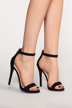 3b46876730b Aubrey Heels - Black Suede High Heels Stilettos