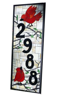 Custom House Number Stained Glass Mosaic By Sequential Glass Art Mosaic |  Mosaics | Pinterest | Mosaics