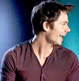 Dylan O'Brien being cute in an interview