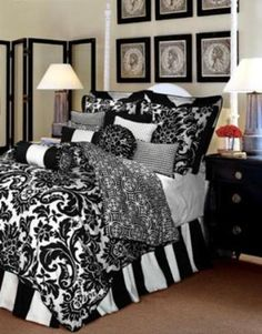 another bw bedroom idea love the bedskirt bedroom ideas black white