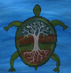 dreamtime turtle with Tree of Life