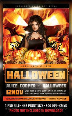Halloween Flyer Template PSD #design Download: http://graphicriver.net/item/halloween-flyer/3043147?ref=ksioks