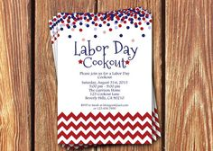 Memorial Day • 4th of July • Labor Day Cookout Party Invitations on Etsy, $12.00