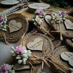 Söz hediyelikleri Nişan hediyelikleri Rustic Vintage Düğün Wedding favors