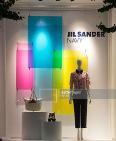 Jil Sander Navy - Tokyo, window display 2014 as Part of the World Fashion Window Displays on April 17, 2014 in Tokyo, Japan.