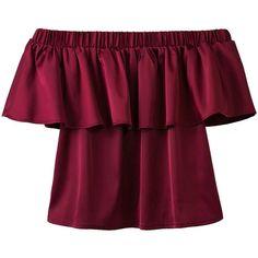Ruffles Blouse Shirt Women Tops 2016 Autumn Casual Solid Shirt Short Sleeve Slash Neck Off The Shoulder Blusas Ruffle Collar Blouse, Ruffle Shirt, Ruffle Top, Frill Blouse, Ruffle Sleeve, Red Off Shoulder Top, Off Shoulder Shirt, Summer Blouses, Red Blouses