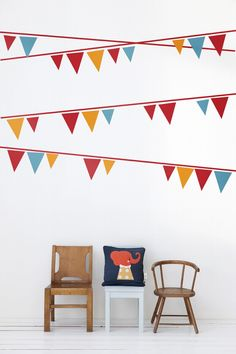 Bunting wall-stickers, Ferm