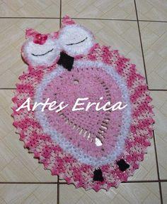 Coruja Dorminhoca! Tapete confeccionado com Fios Barroco Multicolor, Barroco Decore e Barroco Soft!