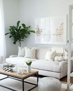 White Living mit einem Hauch Industrial: Stimmiger könnte ein Wohnzimmer nicht sein! #Westwing #InspirationEveryDay