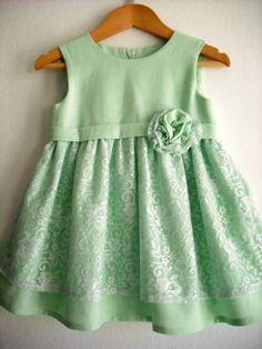 Mint Flower Girl Dress/ Girl Summer Dress/ by ANKOdesign on Etsy