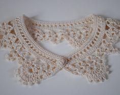 Detachable crochet peter pan collar
