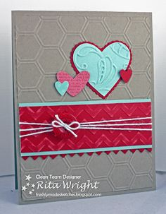 Stampin' Up! Valentine   by Rita Wright at Rita's Creations: Hearts