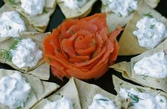 Foodista | Recipes, Cooking Tips, and Food News | #Smoked #Salmon With Dilled Labneh On Pita Chips