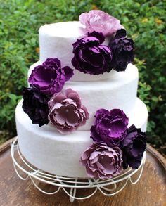 purple flower wedding cake toppers 14 quot rustic wood slab cake stand wood slice log slice 18896
