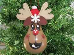 Light Bulb Reindeer Ornaments   Reindeer Light Bulb Christmas Ornament