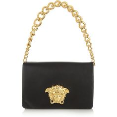 Versace Leather shoulder bag ($1,820) ❤ liked on Polyvore featuring bags, handbags, shoulder bags, versace, black, leather man bags, man leather shoulder bag, leather shoulder handbags, versace purses and purse shoulder bag