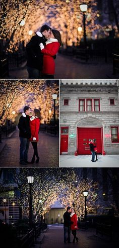 Chicago Christmas Engagement Pictures {Can we please do CHRISTMAS PICTURES} @jaimelovesjesus #christmaslightspictures