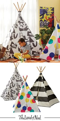 With various sizes available, we have a kids' teepee for everyone from the little ones to the not-so-little ones.