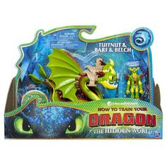DreamWorks Dragons, Tuffnut and Barf & Belch, Dragon with Armored Viking Figure, for Kids Aged 4 and Up Dreamworks Movies, Dreamworks Dragons, Dragon Scale Armor, Dragon Light, Kid Experiments, Dragon Trainer, How Train Your Dragon, Movie Characters, Saints