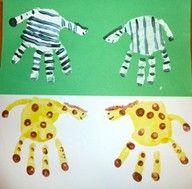 zoo/safari animal handprints