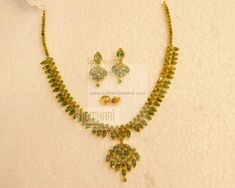 Necklaces / Harams - Gold Jewellery Necklaces / Harams at USD Mens Gold Jewelry, Ruby Jewelry, Gold Jewellery, Bridal Jewelry, Emerald Necklace, Gold Necklace, Ruby Necklace Designs, Gold Mangalsutra Designs, Temple Jewellery