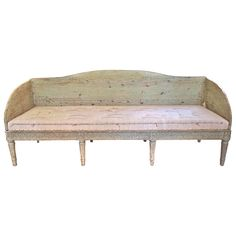 18th Century Swedish Gustavian Settee  HEIGHT:32.25 in. (82 cm) WIDTH:6 ft. 4 in. (193 cm) DEPTH:24.5 in. (62 cm) SEAT HEIGHT:17 in. (43 cm) DEALER LOCATION:Houston, TX | From a unique collection of antique and modern sofas at https://www.1stdibs.com/furniture/seating/sofas/