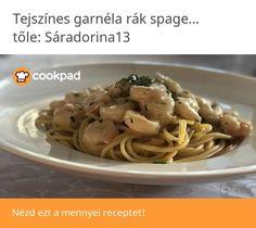 Tejszínes garnéla rák spagettivel Spaghetti, Ethnic Recipes, Invite, Food, Essen, Meals, Yemek, Noodle, Eten