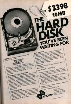 Hard Disk 10MB (only u$s 3398). 1977