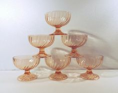 Arcoroc Rosaline pink glass dessert or sherbert by Frenchidyll