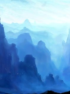 Foggy Mountains Foggy Mountains, Mists, Fine Art, Nature, Travel, Painting, Outdoor, Backgrounds, Ideas