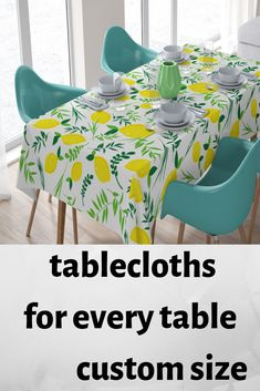 tablecloth custom tablecloth Tablecloth Size Chart, Yellow Tablecloth, Living Room Kitchen, Living Room Bedroom, Christmas Table Cloth, Kids Curtains, Dream Bathrooms