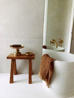 Bathrooms - Bathroom Design - Interior Design Interior Decorating - interior Design - Bathroom Interiors - Aesthetic - Design Architecture - Moodboard - Bathroom Ideas Bathroom Decor - Bathroom Remodel - Bathroom Interior Bathroom - Concrete Basin - Concrete Design - Concrete Nation - Australian Made Sustainable - Worldwide Shipping - @concretenation Handmade Natural, Concrete Column, Concrete, Concrete Basin, Interior Design Inspiration, Countertops, Powder Room Design, Design Inspiration, Basin